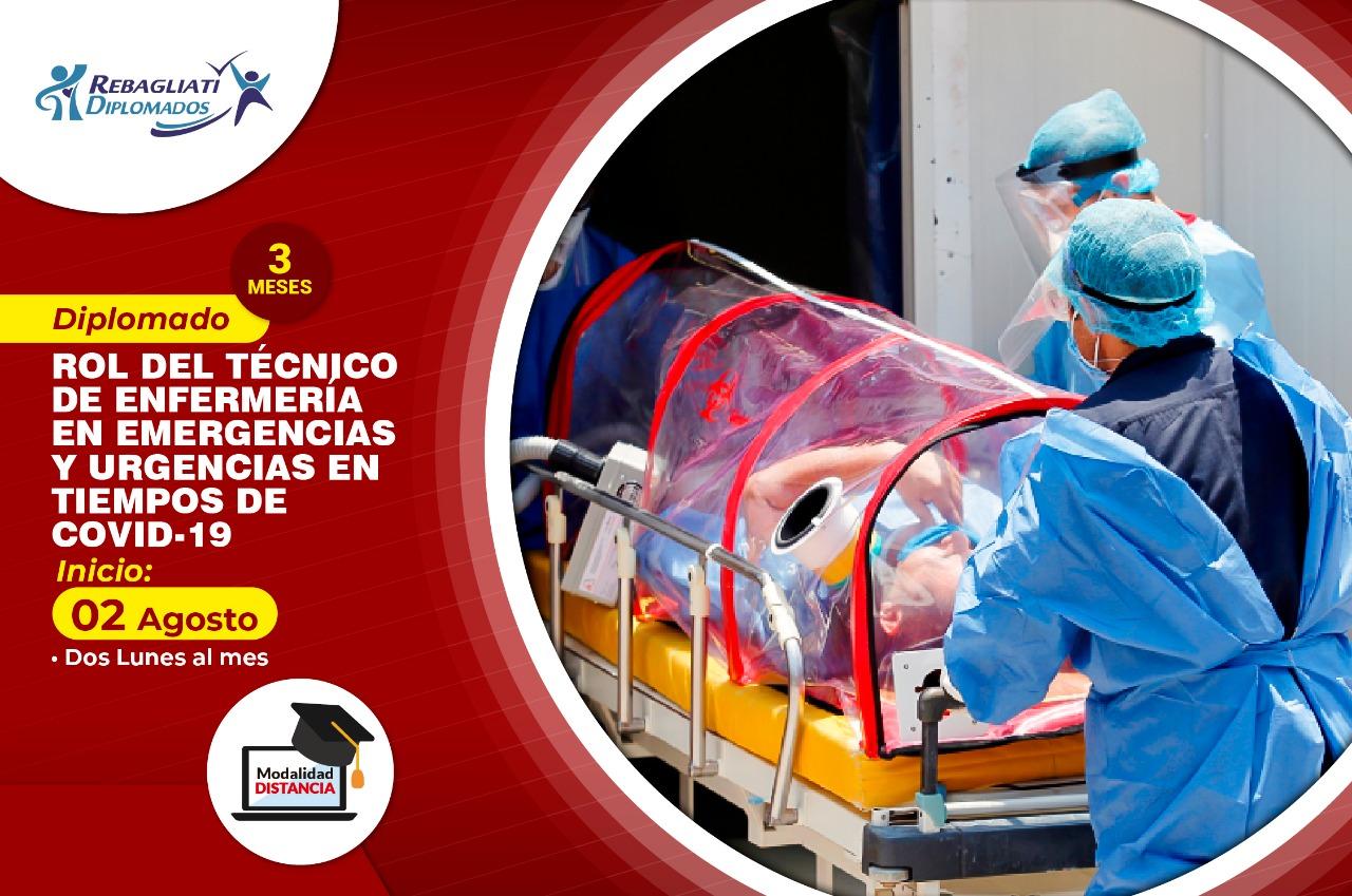 """DIPLOMADO ROL DEL TÉCNICO EN EMERGENCIAS Y URGENCIAS EN TIEMPOS DE COVID 19"""" 2 DE AGOSTO 2021"""