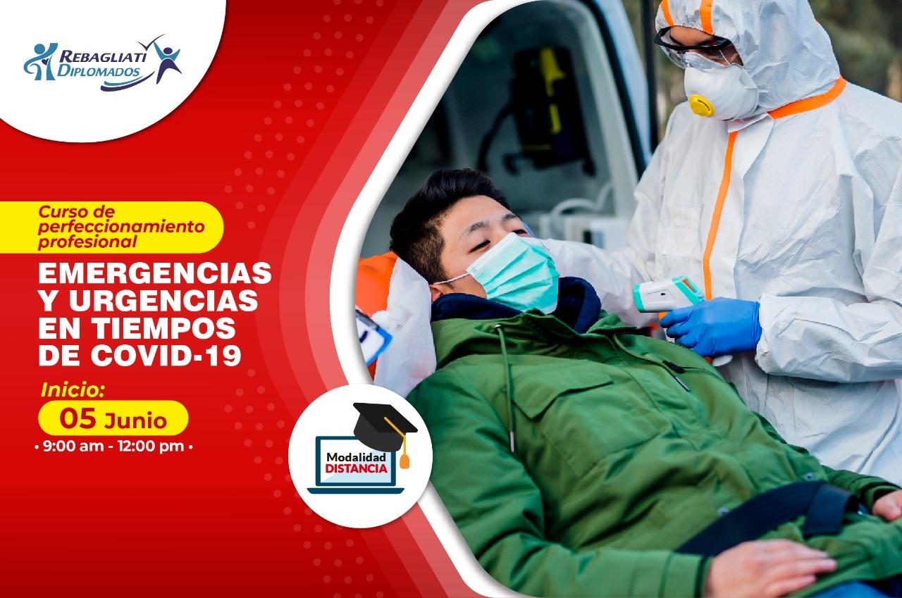 """CURSO DE PERFECCIONAMIENTO PROFESIONAL EMERGENCIAS Y URGENCIAS EN TIEMPOS DE COVID – 19"""" 5 DE JUNIO 2021"""
