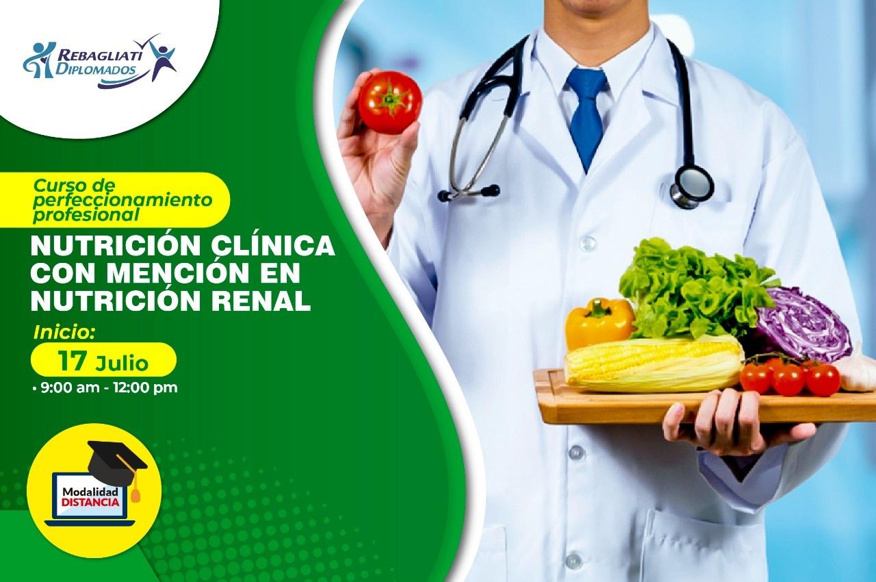CURSO DE PERFECCIONAMIENTO PROFESIONAL NUTRICIÓN CLÍNICA CON MENCIÓN EN NUTRICIÓN RENAL 17 DE JULIO 2021