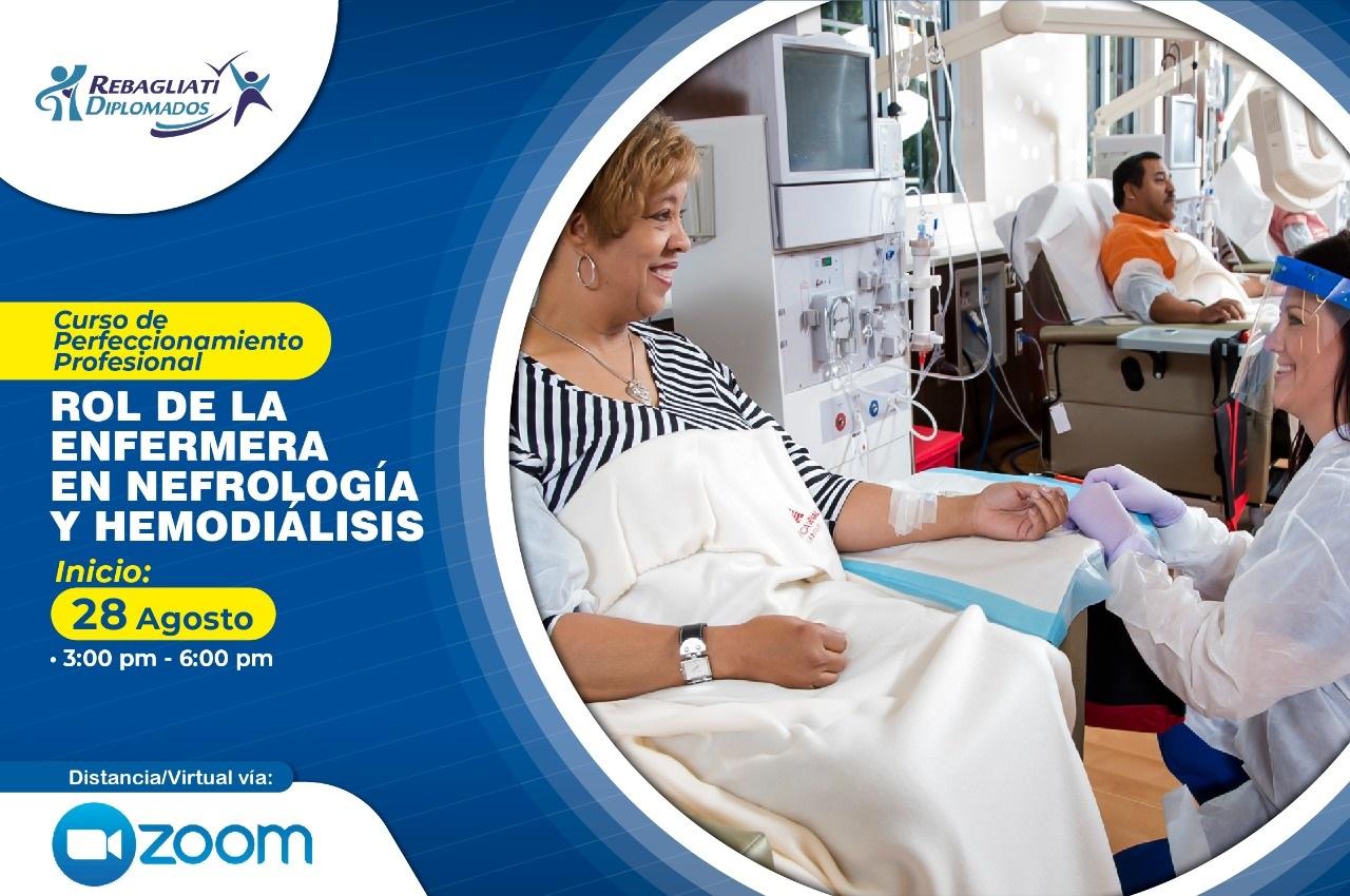 CURSO DE PERFECCIONAMIENTO PROFESIONAL ROL DE LA ENFERMERA EN NEFROLOGÍA Y HEMODIÁLISIS 28 DE AGOSTO 2021