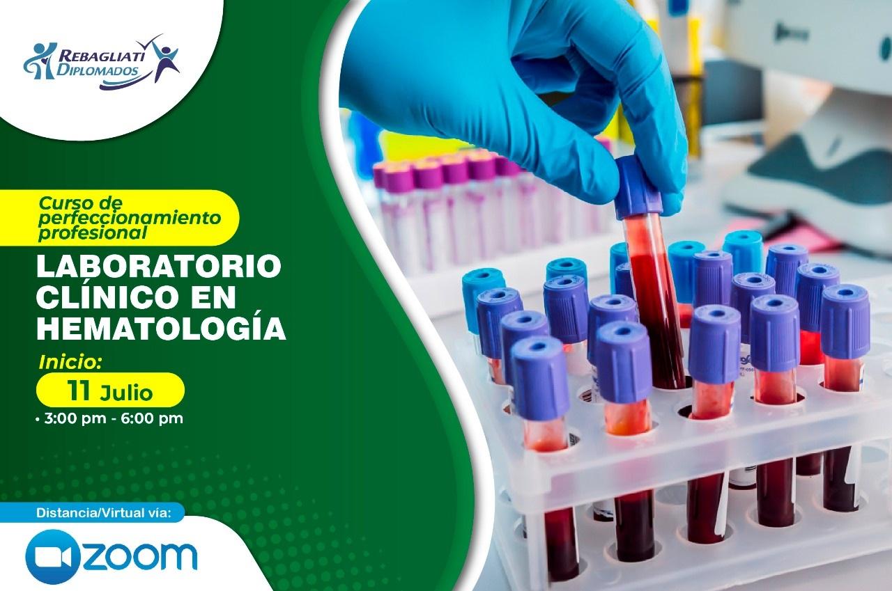 CURSO DE PERFECCIONAMIENTO PROFESIONAL LABORATORIO CLÍNICO EN HEMATOLOGÍA 11 DE JULIO 2021